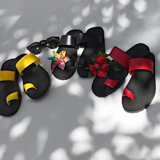 Sandales à entre-doigts Paanda® La version de luxe de simples sandales de plage à entre-doigts. Les Paanda® Flips originaux made in Italy.