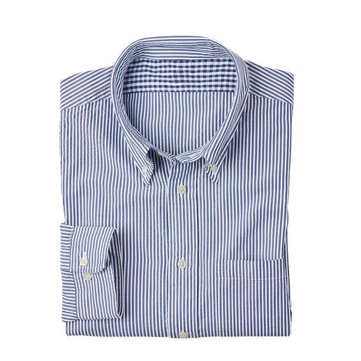 Chemise en seersucker Brooks Brothers Seersucker : le tissu de crêpe frais qui laisse l'air circuler. Créé par Brooks Brothers – tailleur pour homme.