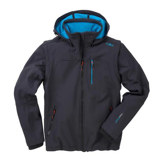 Veste en softshell, homme - Élancée, légère et pourtant bien chaude. Veste en softshell, avec WindProtect® de CMP.