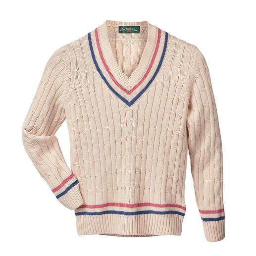 Pull de cricket Alan Paine, pour femme Alan Paine a inventé, et réinventé, le légendaire pull de cricket. La renaissance d'un classique de la mode.