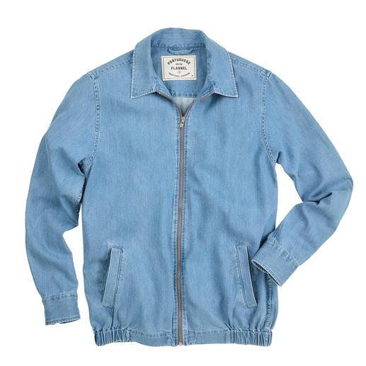 Veste en jean ultra-légère Portuguese Flannel La veste en jean estivale épurée du spécialiste de la chemise Portuguese Flannel.