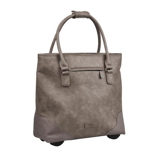 Toujours élégant. Suffisamment grand. Jamais trop lourd. Le Shopper-Bag XL avec fonction trolley dissimulée. Par Fritzi aus Preußen.