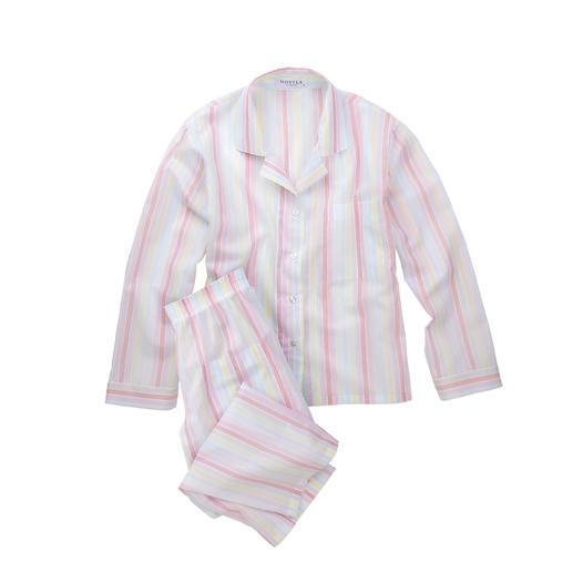 Pyjama à rayures pastel Novila Le pyjama idéal pour une bonne impression dès le matin.