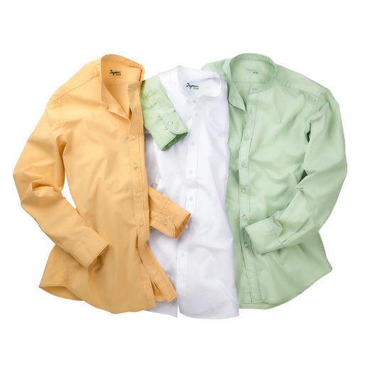 Chemise basique en mousseline Ingram Soignée comme de la popeline de coton. Aérée comme le lin. Plus légère que les deux.