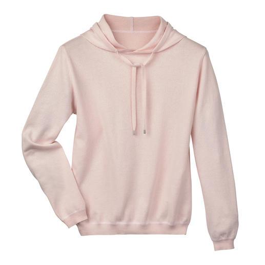 Sweat à capuche en coton cachemire, pour femme Difficile de trouver un sweat à capuche aussi élégant. Le tricot coton/cachemire remplace le tissu sweat-shirt.