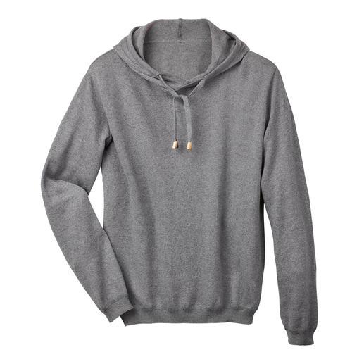 Sweat à capuche en coton cachemire, pour homme Difficile de trouver un sweat à capuche aussi élégant. Le tricot coton/cachemire remplace le tissu sweat-shirt