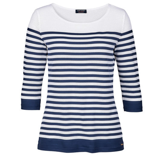Pull ou Top en microfibre Saint James Le pull-over et le top bretons en microfibre confortable et faciles d'entretien. De Saint James/France.