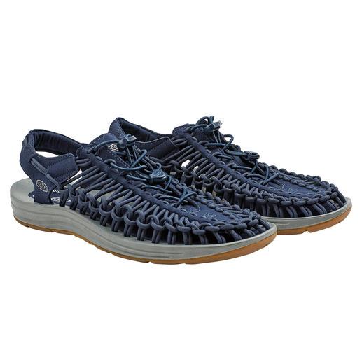 Sandales Outdoor Uneek™ KEEN®, homme 2 lacets + 1 semelle = la sandale outdoor la plus innovante du marché. Par le spécialiste KEEN®, USA.