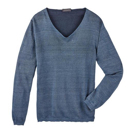 Pull en lin Gizeh Seldom Le tricot double-face est rarement aussi léger. Et rarement fait à partir d'un matériau d'une telle qualité.