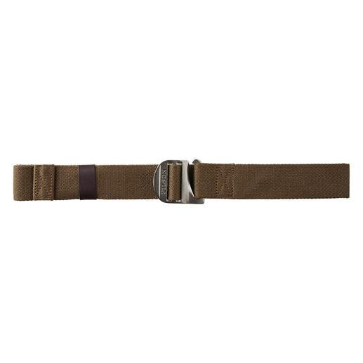 Ceinture en canvas léger Filson Ne pèse que 119 grammes : preuve qu'une ceinture en toile solide peut être aussi légère (et durable).