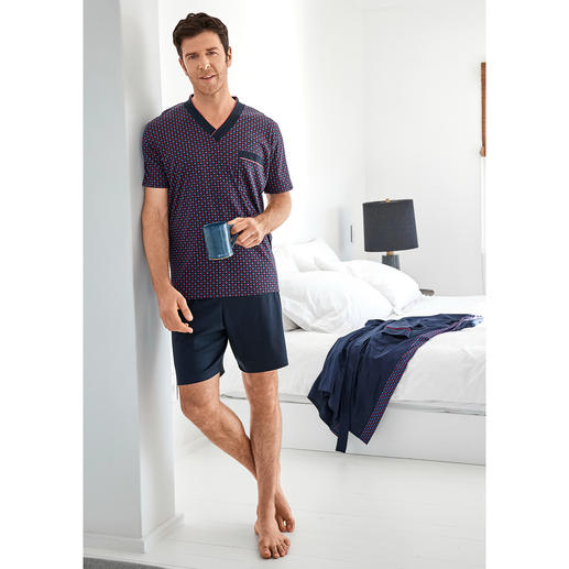 Pyjama préféré No. 28 Votre pyjama préféré. Pur coton, travaillé avec soin, made in Germany.