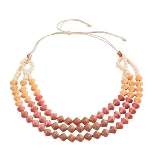 Collier en perles de bois Smitten Véritable artisanat des Philippines. Chacun de ces beaux colliers en perles de bois est unique.