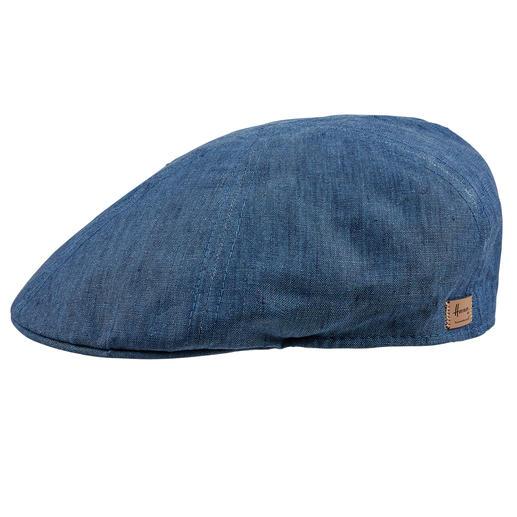 Gardez la tête froide grâce à du lin pur sans doublure. Gardez la tête froide grâce à du lin pur sans doublure. La casquette plate de Herman Headwear.