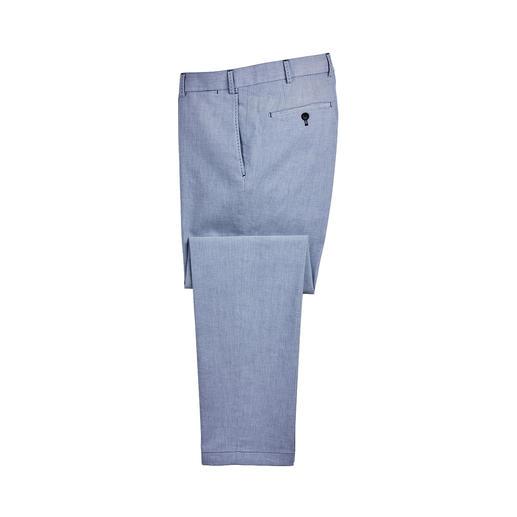 Pantalon Oxford Hiltl Tissu Oxford : un classique populaire chez les chemises. Mais malheureusement difficile à trouver comme pantalon.