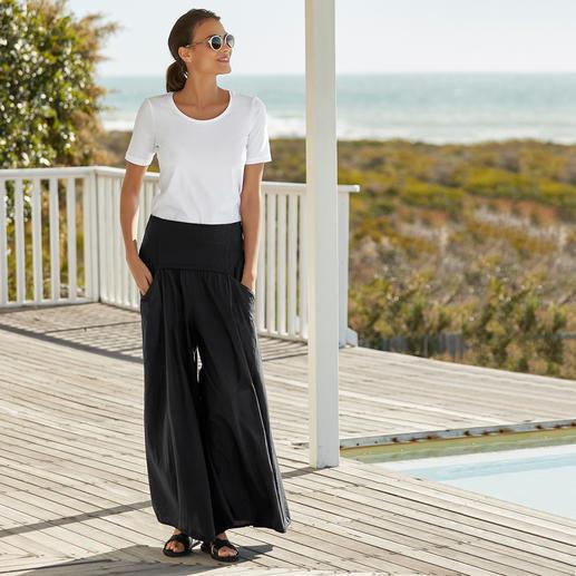Jupe-culotte Ibiza Elisa F. Le vrai pantalon Ibiza. Hier un classique au style hippie. Aujourd'hui la star tendance des pantalons larges.