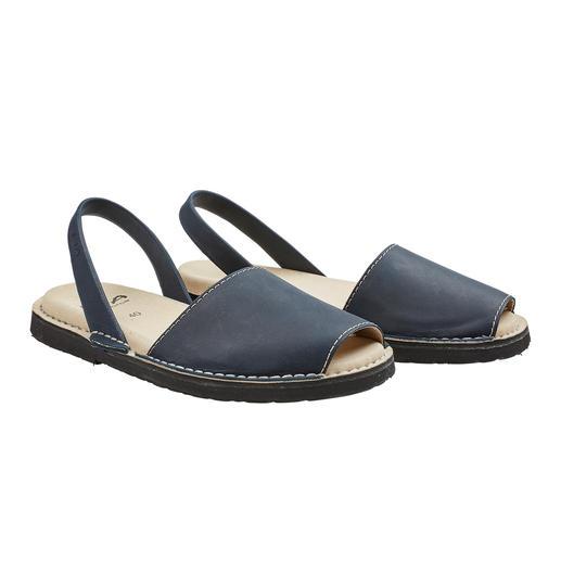 Avarcas de Menorca, homme La sandale traditionnelle de Minorque : faite main. Et qui a fait ses preuves lors des étés les plus chauds.