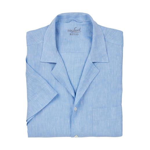Chemise bowling van Laack La chemise bowling du gentleman. En blanc et bleu clair classique. Pur lin. Par van Laack.