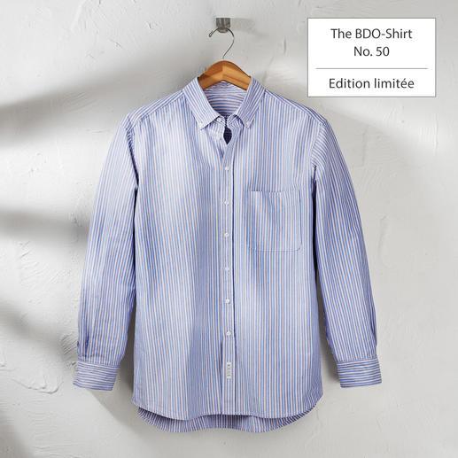 The BDO Shirt, Limited Edition N°50 Redécouvrez une bonne vieille sensation de confort. Et oubliez qu'une chemise doit être repassée.