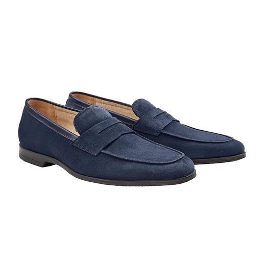 Mocassins « pieds-nus » La doublure en éponge rend ce mocassin idéal à porter sans chaussettes. Il est doux, absorbant, antidérapant.