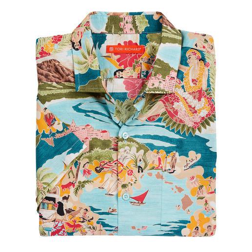 Chemise Aloha Tori Richard La chemise Aloha de Tori Richard. Fabriqué à Hawaii.