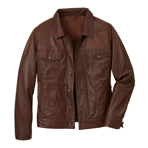 La veste faite du cuir Nappa de renne le plus fin au monde. La veste faite du cuir Nappa de renne le plus fin au monde.