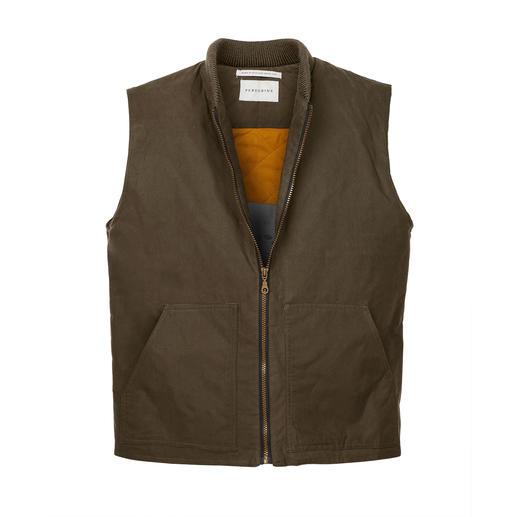 Veste en coton ciré Peregrine La veste en coton ciré de Peregrine/Angleterre protège du vent et de la pluie et vous réchauffe.