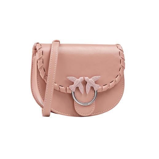 La pochette pour ceinture devient un article de designer tendance très recherché. À forme ronde et branchée, de la noble marque italienne Pinko. Fait de cuir de veau de haute qualité.