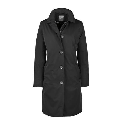 Travelcoat HappyRainyDays Le manteau de voyage élégant. Imperméable, coupe-vent, respirant et légèrement réchauffant.