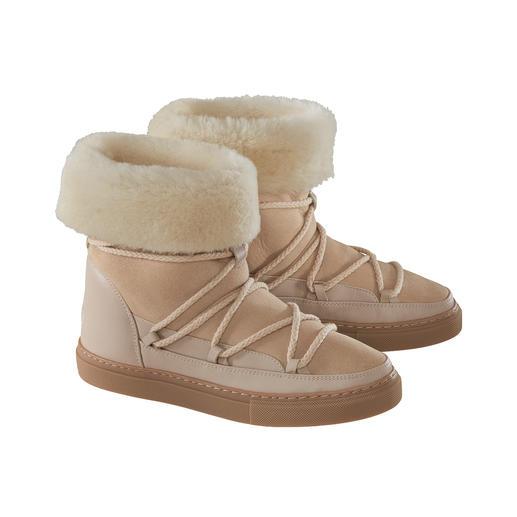 Bottines en fourrure Slimline Inuikii 100 % mode. 100 % hivernales :  les bottines en fourrure d'agneau par Inuikii.