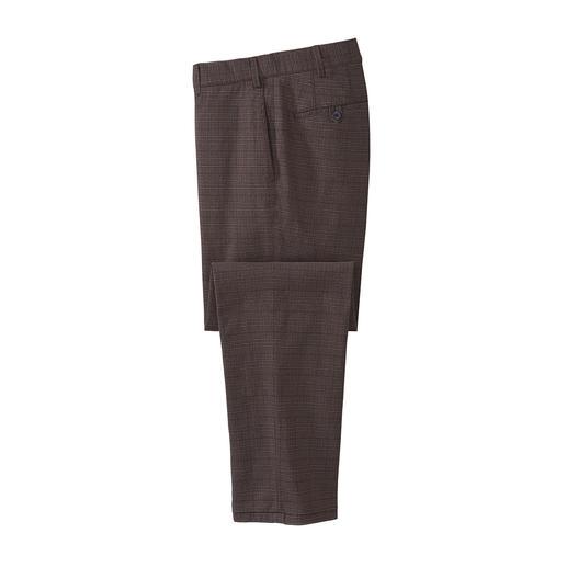 Pantalon à carreaux Wool-Look Hiltl Aspect laine vierge soigné et correct pour le bureau – mais fait de douce flanelle de coton qui ne gratte pas.