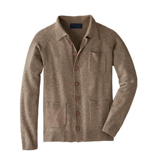 Cardigan noble Carbery De la fine laine de yak, du cachemire et un tricot irlandais rendent ce cardigan si spécial.