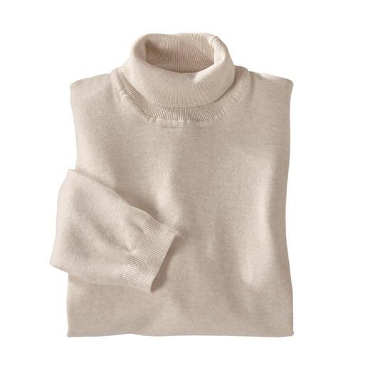 Pull à col roulé Ragman Finement tricoté à partir de coton à longues fibres. Par Ragman. Par Ragman.