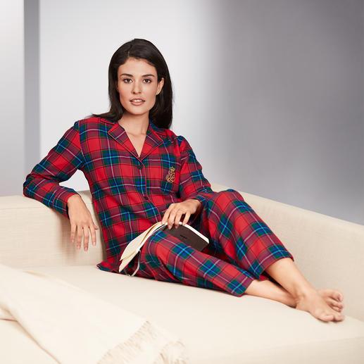 Pyjama Preppy Ralph Lauren Coupe classique. Flanelle douce et douillette – style preppy noble signé Ralph Lauren.