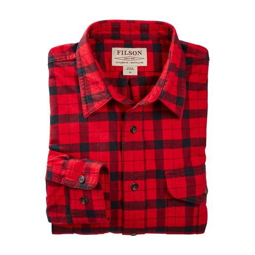 Chemise Alaska Guide Filson, Rouge/Noir La chemise de bûcheron Alaska Guide originale par Filson.