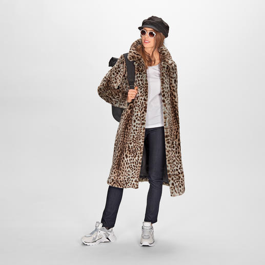 Manteau à motif guépard molliolli