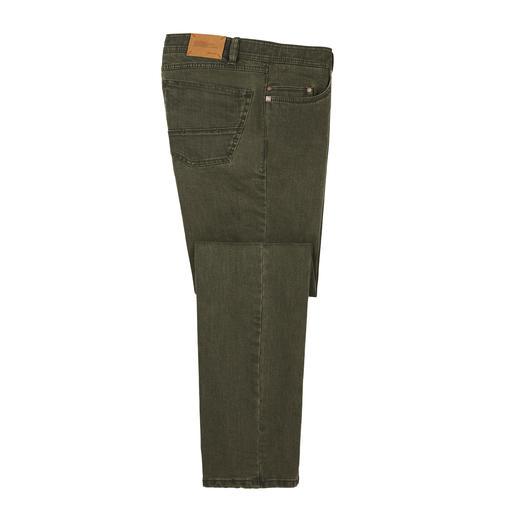 Jean Coloured Flex Denim Denim 10 onces robuste – et pourtant aussi confortable qu'un jogging. Le jean Eurex by Brax en matériau Hi-Flex  innovant.