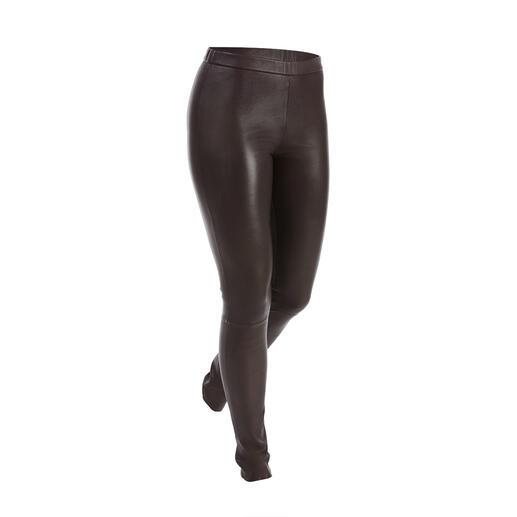 Leggings en cuir stretch Depeche Coupe moulante et pourtant très confortable. Le leggings en cuir stretch du spécialiste danois du cuir Depeche.