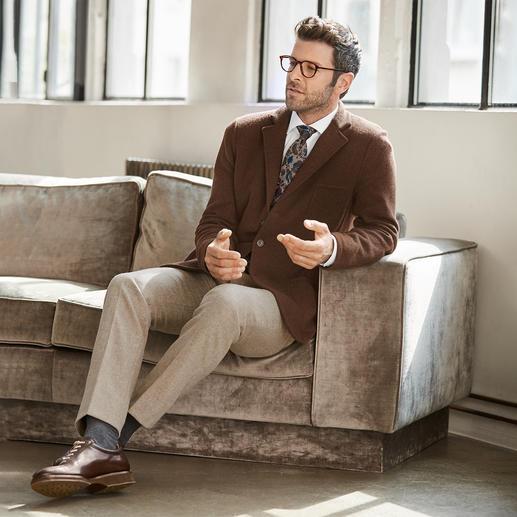 Blazer en tricot Geelong Gran Sasso Vous trouverez difficilement un blazer en laine plus doux et de meilleure qualité.