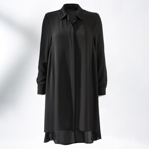 Blouse longue Janice& Jo Nominée comme étant le vêtement préféré porté le plus souvent : la longue blouse noire à la coupe parfaite.