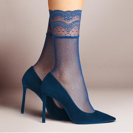 Socquettes en dentelle Falke Les chaussettes en nylon décorées. Nos favorites : celles du spécialiste allemand de la bonneterie Falke.