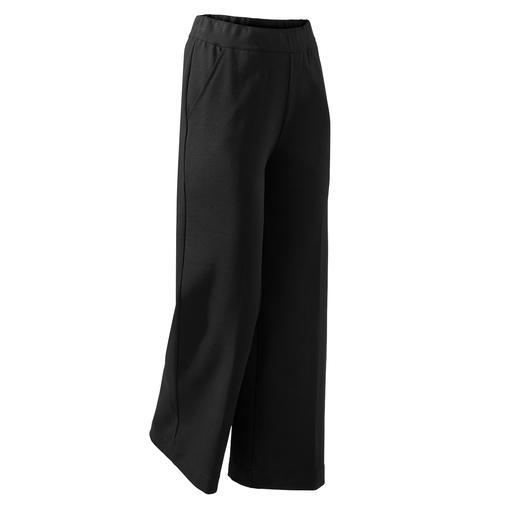 Pantalon à jambe large Punto Milano Le pantalon noir parfait pour tous les jours et toutes les occasions. Noble jersey Punto Milano.