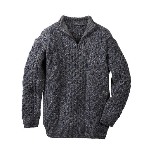 Pull Aran Irelands Eye Un original irlandais rare : le pull troyer aran par Irelands Eye de Dublin. Tricot riche en tradition.
