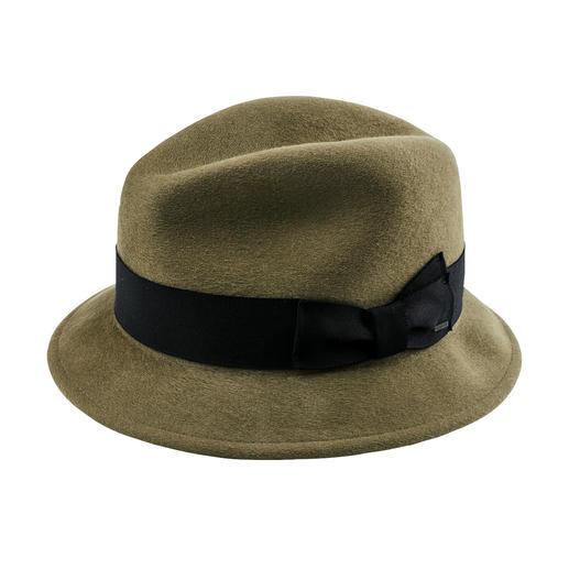 Chapeau trilby classique Chaud, coupe-vent, hydrofuge : la version de luxe parmi les chapeaux en feutre de laine.