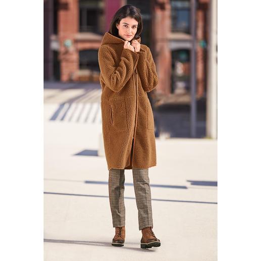 Manteau réversible en fausse fourrure Betta Corradi Se distingue à peine du véritable suède. Le manteau design abordable de Betta Corradi.