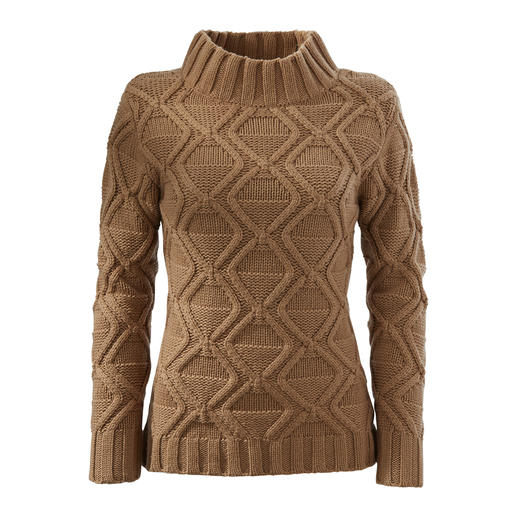 Pull diamant Carbery Tricot authentique d'Irlande – traditionnel et tendance à la fois. Le pull Diamond avec col roulé.