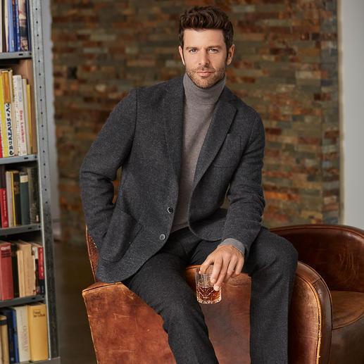 Veste en laine bouillie et jersey Benbarton Une veste en laine bouillie peut être si douce, si légère et si noble. En jersey de laine de viscose.