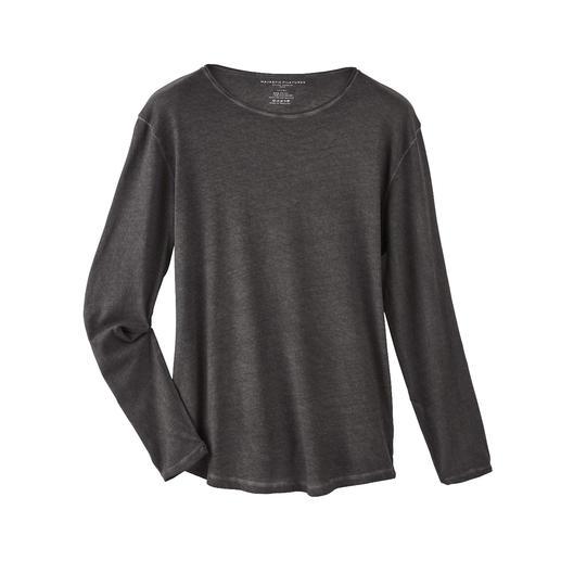 Shirt à manches longues avec cachemire Plus doux et plus chaud que les simples chemises en coton : le noble shirt à manches longues avec cachemire.