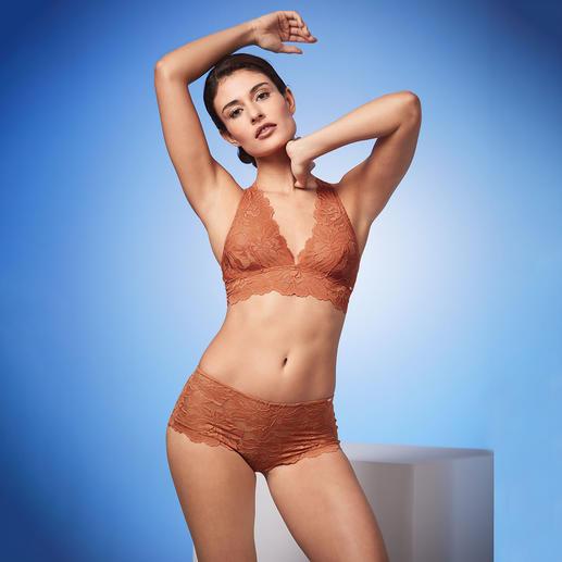 Brassière en dentelle Skiny et Culotte Brassière et culotte en dentelle, à la couleur cannelle tendance. Du spécialiste de la lingerie Skiny, Autriche.