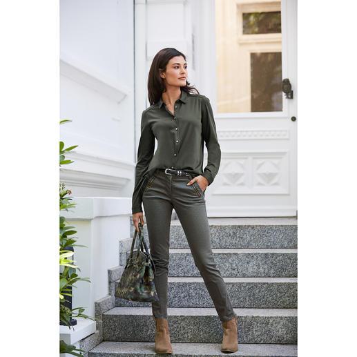 Chemise en jersey plissée vanLaack Plus féminine et élégante que la plupart : la chemise en jersey à dos plissé. Par van Laack.