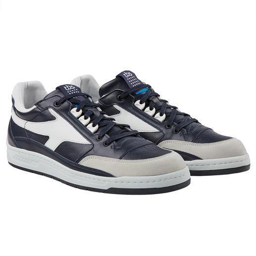 Sneaker en cuir lavable TBS, pour homme Baskets en cuir clair intemporelles, mais lavables en machine ! Design rétro branché fabriqué en France.